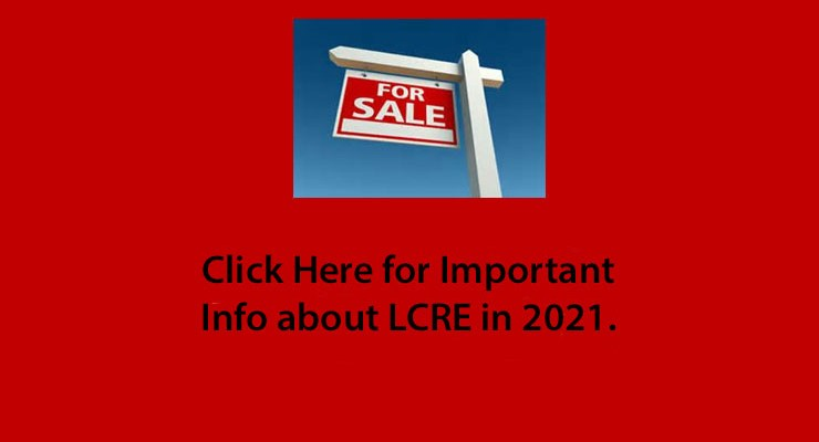 LCRE Announcement for 2021