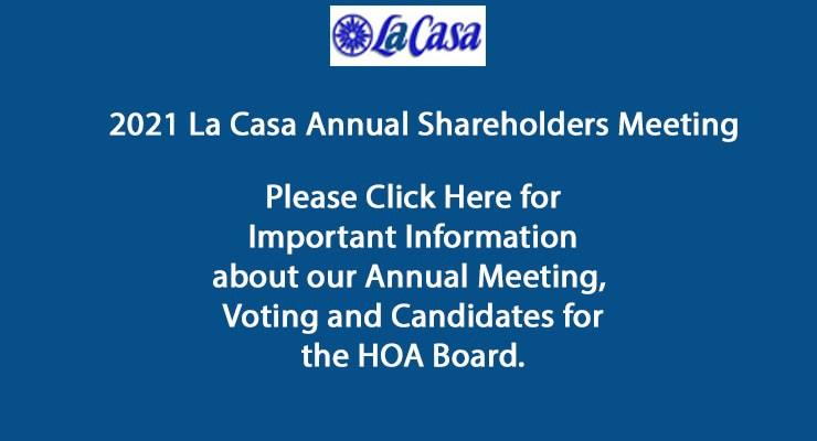 2021 Annual La Casa Shareholders Meeting