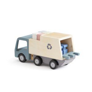 camion poubelle bois