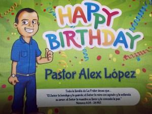 38 años del Pastor Alex López