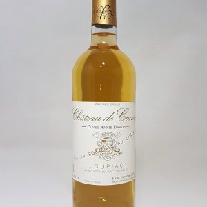 Château de cranne blanc liquoreux 2015 BIO