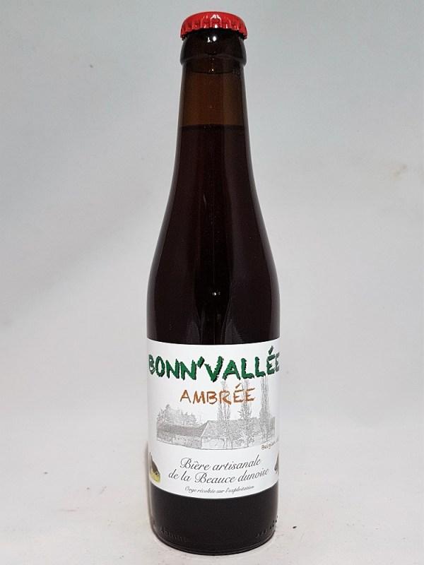 Bonn'vallée Ambrée 33 cl Bière artisanale de la Beauce Dunoise
