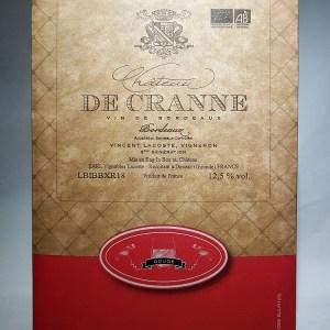 Bordeaux rouge Château de Cranne Bio Bag in box 10 litres