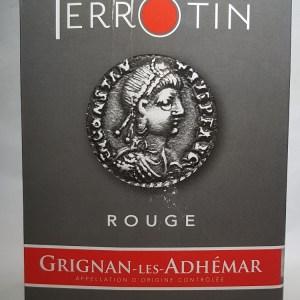 Grignan les Adhémar Rouge «Terre de Roche» Domaine Ferrotin 5 Litres
