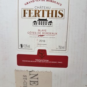 Blaye Côtes de Bordeaux rouge Château Ferthis 5 litres