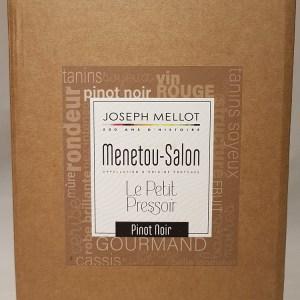 Menetou Salon rouge Bib 5 litres Le petit pressoir Joseph Mellot 2018