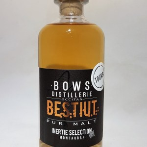 Distillerie Bows Pur Malt TOURBE d'Occitanie Montauban « bestiut inertie selection small batch » 43°