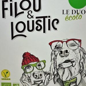 Cubi 3 litres Filou et Loustic le duo écolo blanc BIO VEGAN