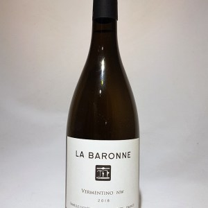 Château La baronne Vermentino NW  Vin de France Blanc 2018 BIO