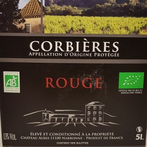Cubi 5 litres Corbières Château Auris BIO