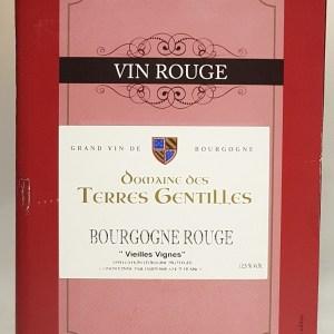 Bourgogne rouge Domaine des Terres Gentilles bib 5 litres
