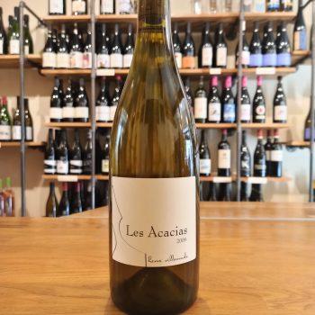 bottles of white wine les acacias
