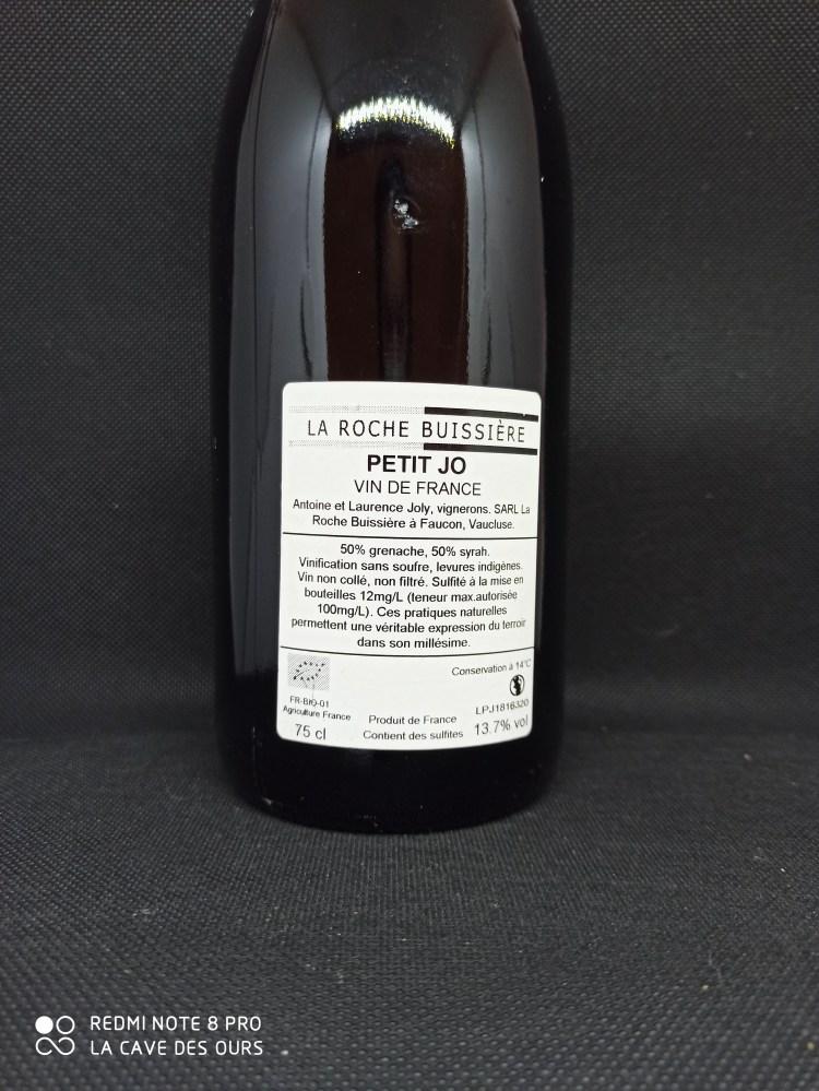 petit jo back label