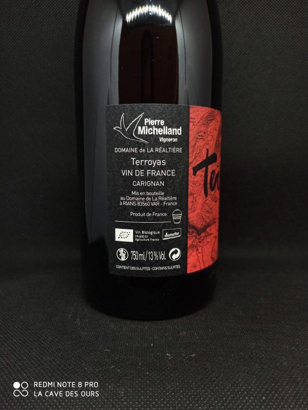 Terroyas side label