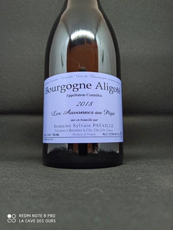 Bourgogne Aligoté Les Auvonnes au Pépé Close up