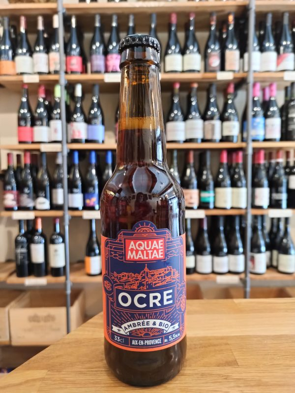 Ocre amber beer