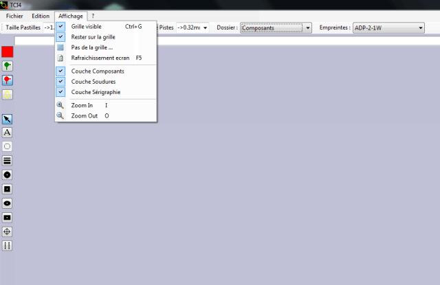 TCI menu affichage