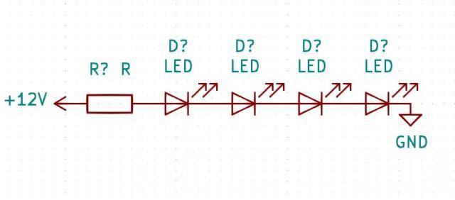 Montage LED série