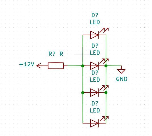 Montage LED parallèle