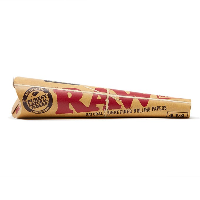 RAW Natural Refined Rolling Papers - Classic Cone