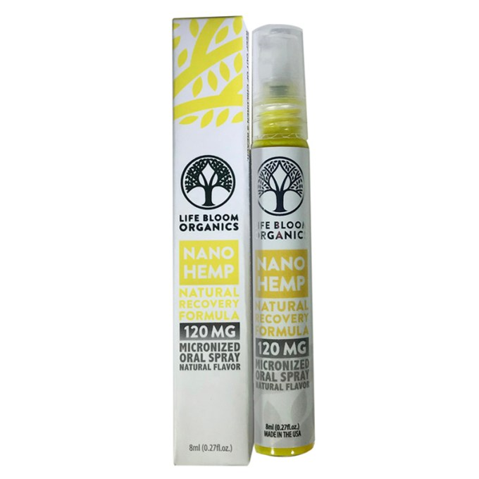 Lifebloom Organics Hemp Oral Spray Recovery