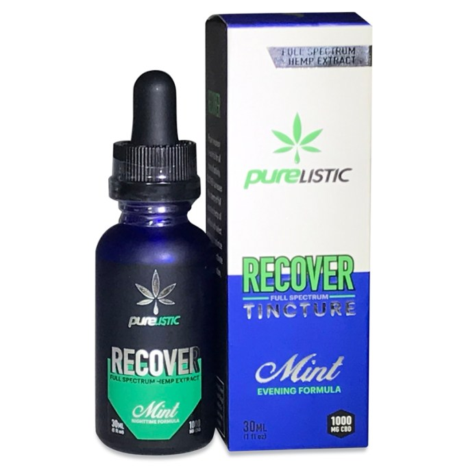 PURELISTIC Recover Hemp Extract CBD Isolate