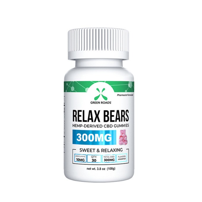 GREEN ROADS CBD Gummy Bears
