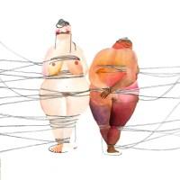 Los cuerpos regordetes ilustrados de Kristy Milliken