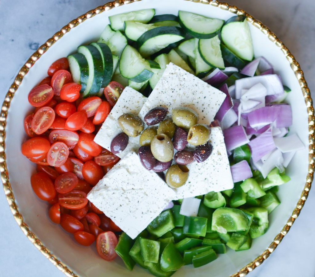 Healthy Greek Village Salad - Recipes - @lacegraceblog1