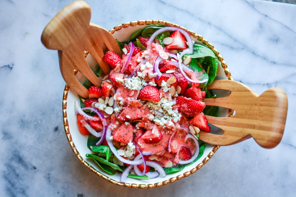 Best Strawberry Poppyseed Salad Recipe - Healthy - @lacegraceblog1