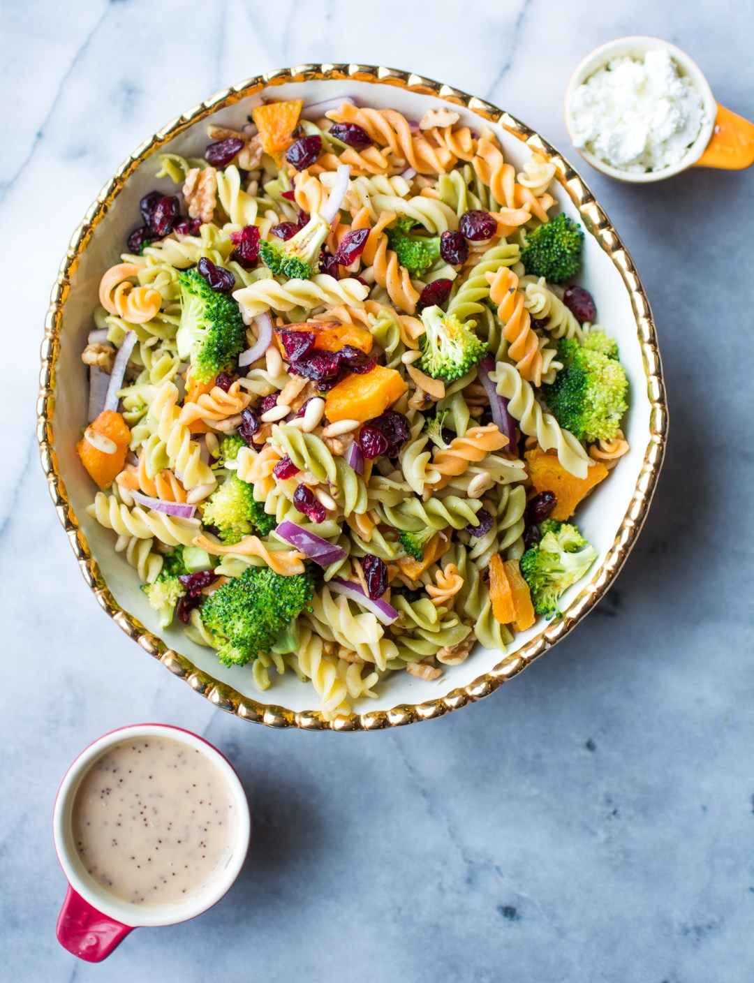 Fall Harvest Pasta Salad Recipe - Healthy - @lacegraceblog1