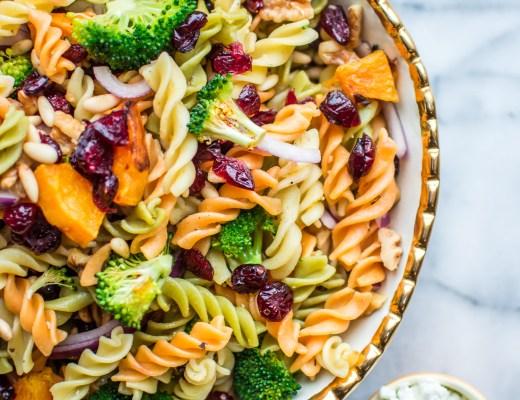Fall Harvest Pasta Salad Recipe - Healthy - @lacegraceblog1