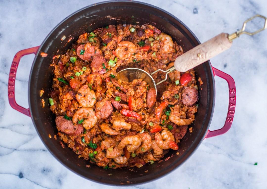 Easy Dutch Oven Jambalaya - Recipes - @lacegraceblog