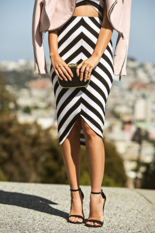 petite fashion blogger, petite fashion blog, fashionista, lace and locks, los angeles fashion blogger, san Francisco fashion blogger, city fashion, spring fashion, affordable fashion,streetstyle, zara pink jacket, matching top and skirt, stripe outfit, stripe pencil skirt