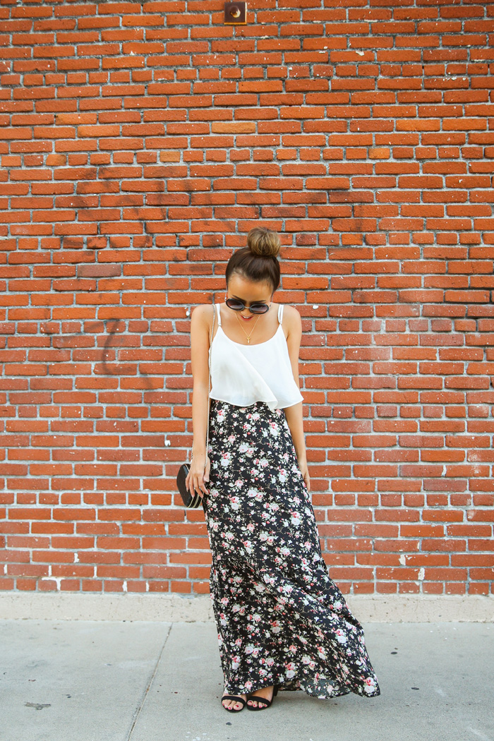 fashion blogger, petite fashion blog, fashionista, lace and locks, los angeles fashion blogger, floral maxi skirt, morning lavender boutique, morning lavender maxi, affordable fashion