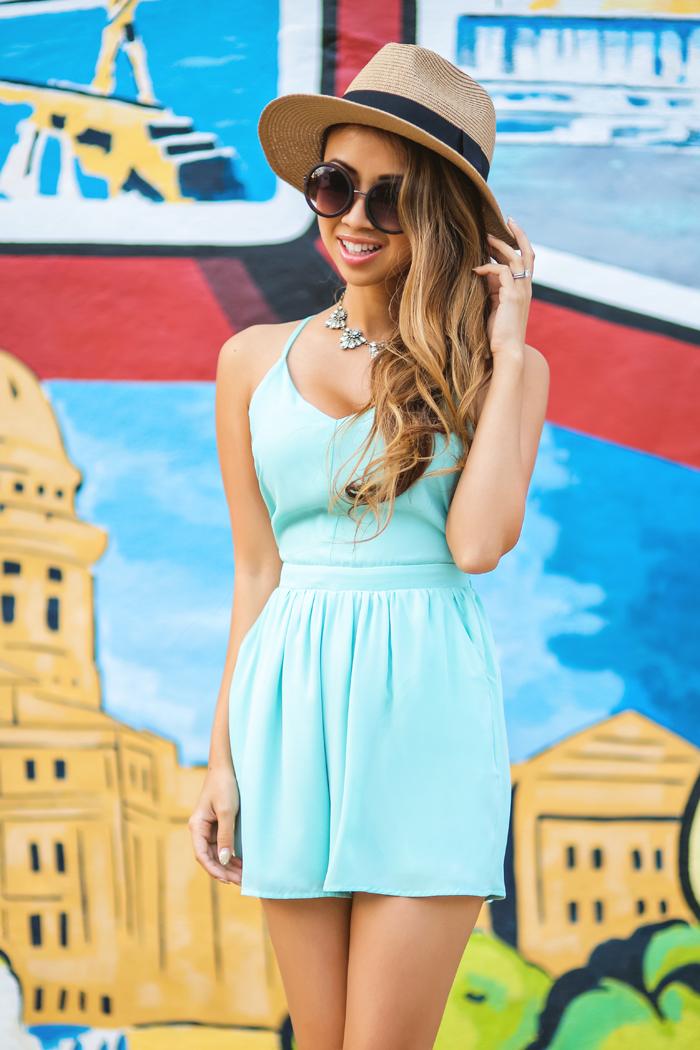 fashion blogger, petite fashion blog, fashionista, lace and locks, los angeles fashion blogger, spring fashion, summer fashion, urban outfitters romper, mint romper, austin fashion, texas fashion, travel blog