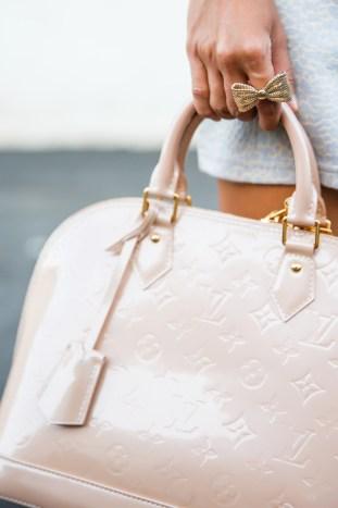 fashion blogger, petite fashion blog, fashionista, lace and locks, los angeles fashion blogger, morning lavender boutique, pastel romper, leopard romper, floral necklace, morning lavender romper, louis vuitton alma pink