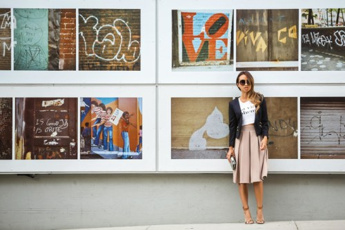fashion blogger, petite fashion blog, lace and locks, los angeles fashion blogger, nyc fashion blogger, morning lavender, camel brown pleated skirt, fall midi skirt