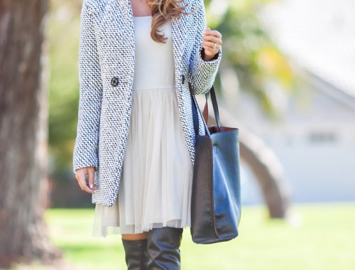 petite fashion blog, lace and locks, los angeles fashion blogger, chicwish fashion, women's tulle dress, streetstyle, winter fashion, over the knee boots