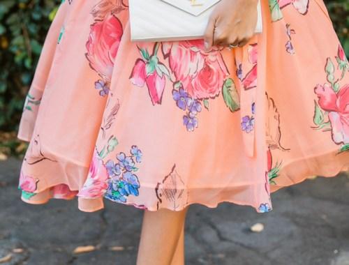 petite fashion blog, lace and locks, los angeles fashion blogger, spring fashion, asos floral dress, floral tulle dress, wedding guest dress, orange county fashion blogger