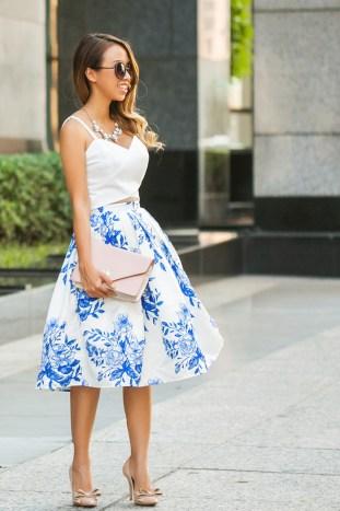 petite fashion blog, lace and locks, los angeles fashion blogger, floral midi skirt, chicwish skirt, dallas fashion blogger, cute fashion for women