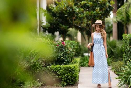 petite fashion blog, lace and locks, los angeles fashion blogger, polka dot maxi dress, ann taylor sale, summer fashion, maxi dresses
