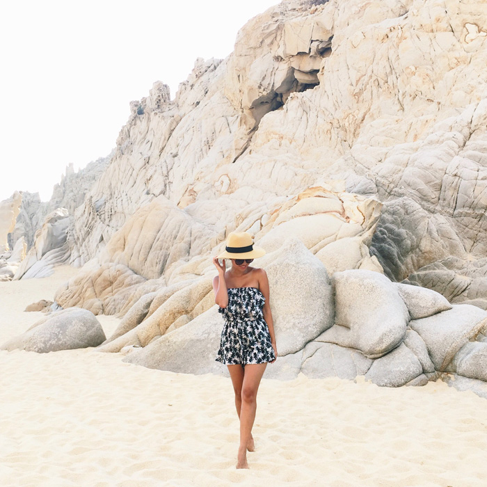 lace and locks, petite fashion blogger, tropical romper, morning lavender romper, vacation fashion for women, cabo san lucas fashion