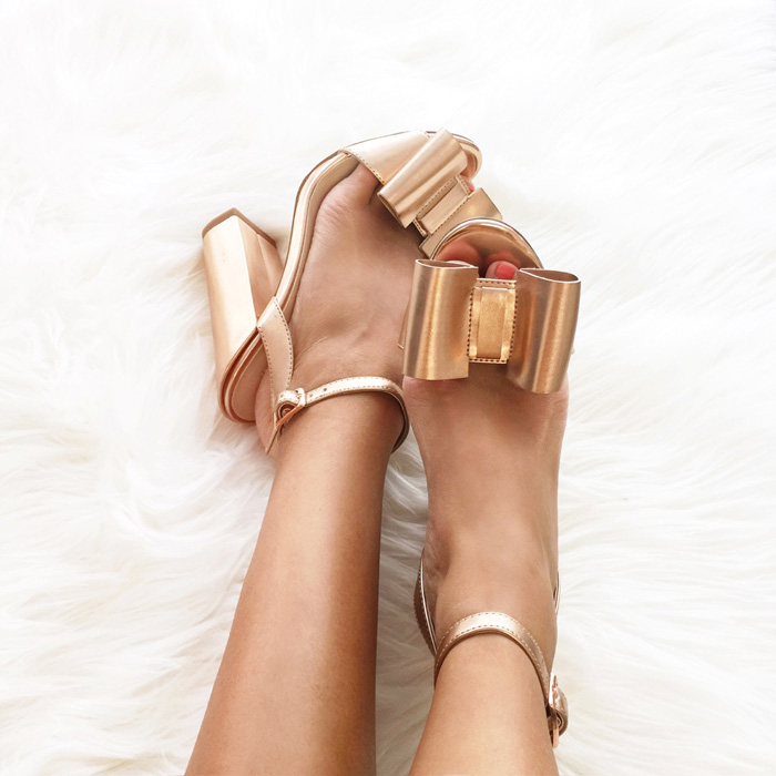 lace and locks, petite fashion blogger, bow heels, bow shoes, asos shoes