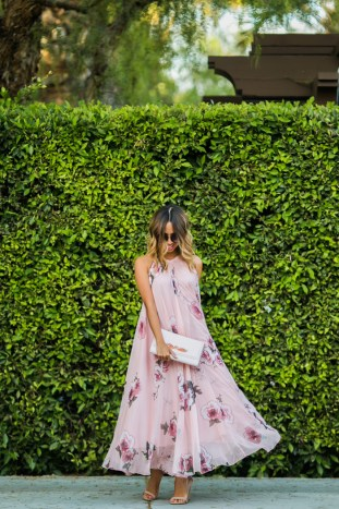 petite fashion blog, lace and locks, los angeles fashion blogger, chicwish maxi dress, floral maxi dress, swing maxi dress, cute maxi dresses