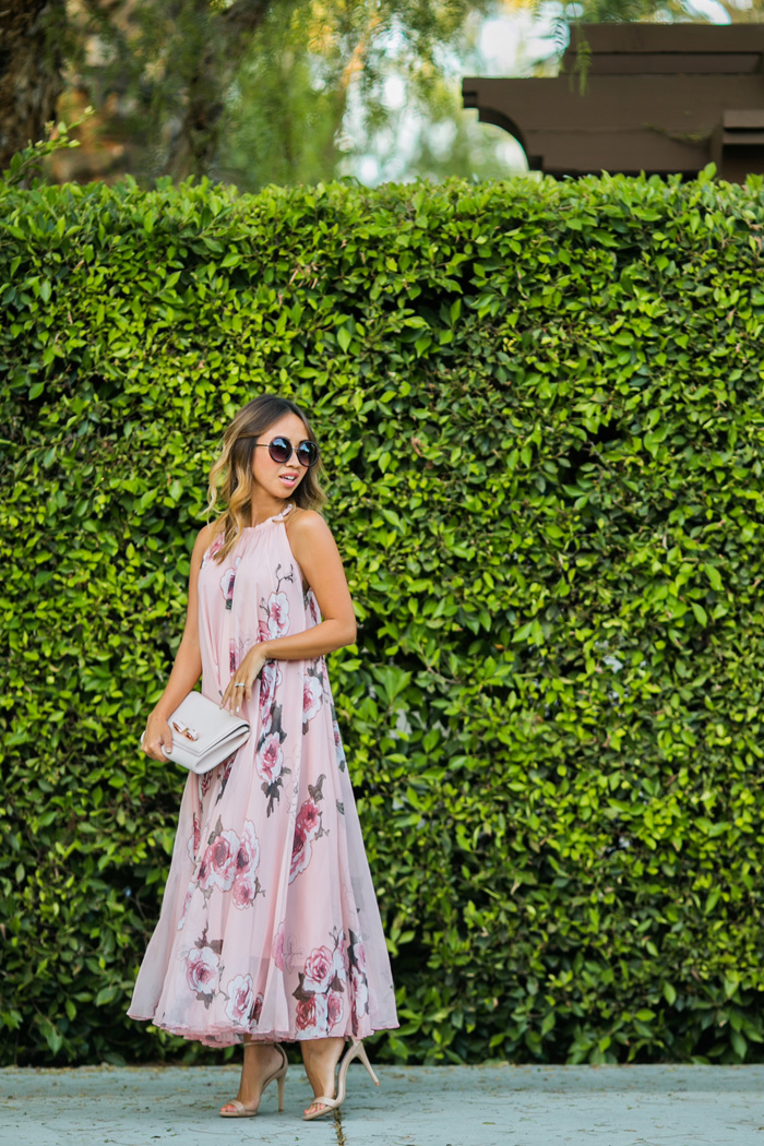 petite fashion blog, lace and locks, los angeles fashion blogger, chicwish maxi dress, floral maxi dress, swing maxi dress, cute maxi dresses