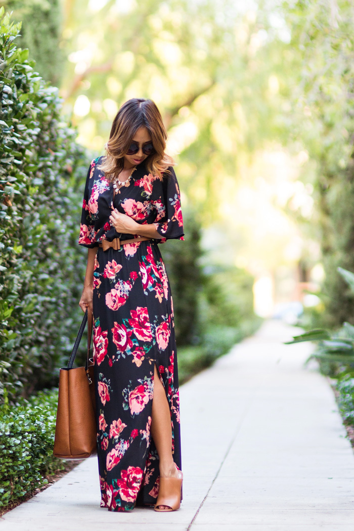 petite fashion blog, lace and locks, los angeles fashion blogger, floral maxi dress, morning lavender shop, cute maxi dresses, fall dresses