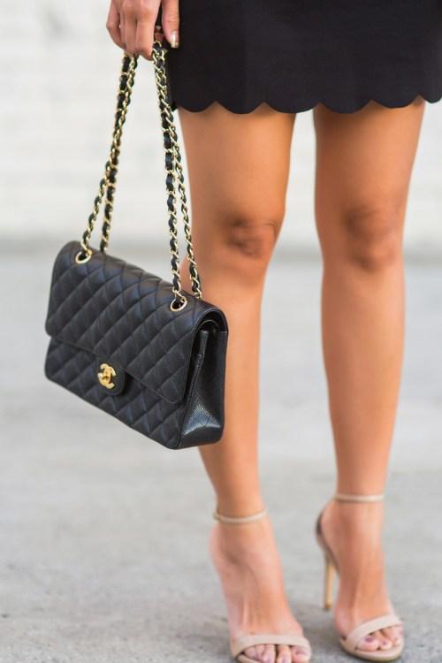 petite fashion blog, lace and locks, los angeles fashion blogger, scallop dress, little black dress, urban outfitters dress, date night dress