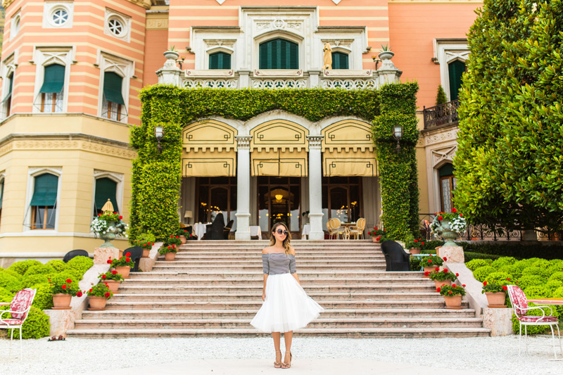 petite fashion blog, lace and locks, italy travel blogger, lake garda, tulle skirt for women, cute tulle skirts, white tulle skirt, villa feltrinelli