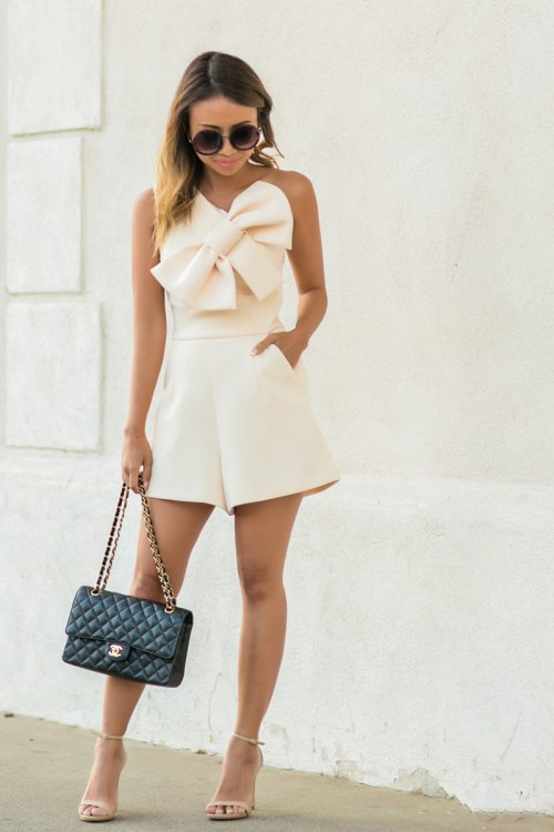 petite fashion blog, lace and locks, los angeles fashion blogger, oc fashion blogger, cute rompers for women, asos romper, bow romper